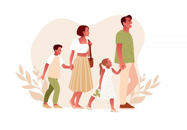 Feliz dia da família ilustração, design plano