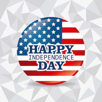 Feliz dia da independência 4 de julho eua design