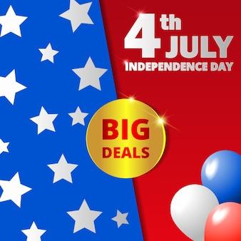 Feliz dia da independência, 4 de julho.