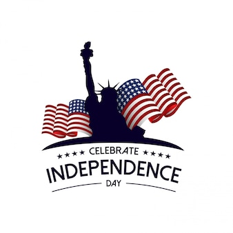 Feliz dia da independência banner vector illustration