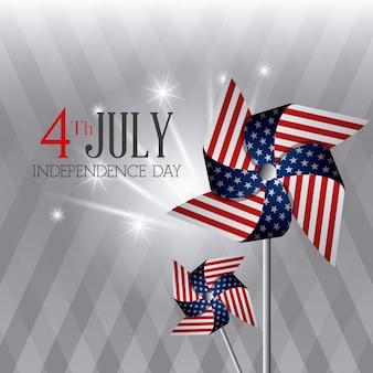 Feliz dia da independência cartão, 4 de julho, design de eua