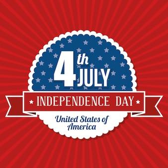 Feliz dia da independência, celebração de 4 de julho nos estados unidos da américa