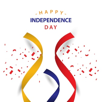Feliz dia da independência columbia vector design de modelo