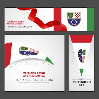 Feliz dia da independência da bósnia e herzegovina