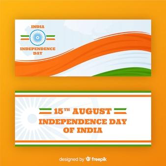 Feliz dia da independência da índia banners