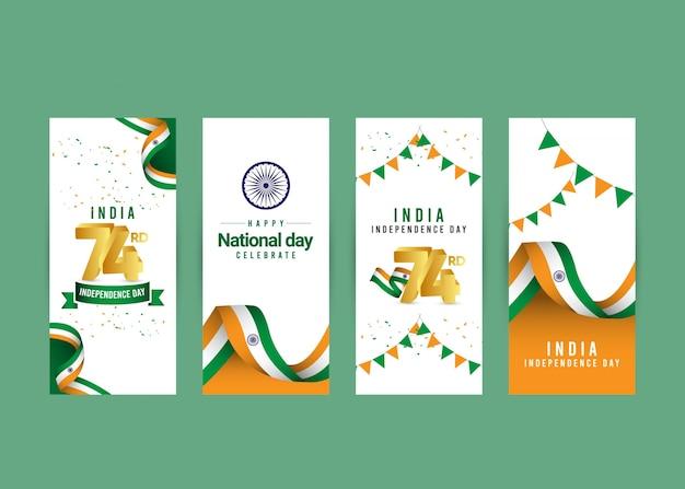 Feliz dia da independência da índia e comemorações do dia da república.