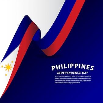 Feliz dia da independência das filipinas celebração modelo design ilustração