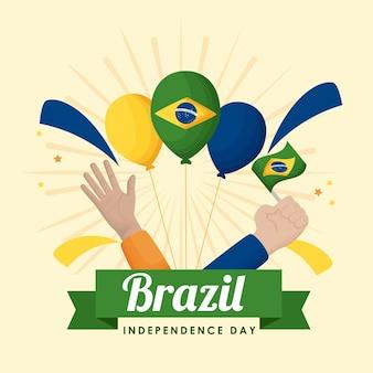 Feliz dia da independência do brasil balões de hélio