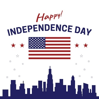 Feliz dia da independência dos estados unidos da américa eua 4 de julho cartaz