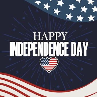 Feliz dia da independência dos eua 4 de julho.
