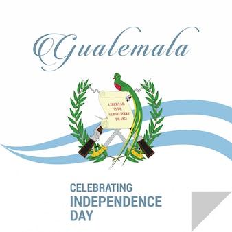 Feliz dia da independência guatemala vector cartão