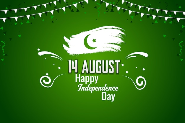 Feliz dia da independência paquistanesa de 14 de agosto