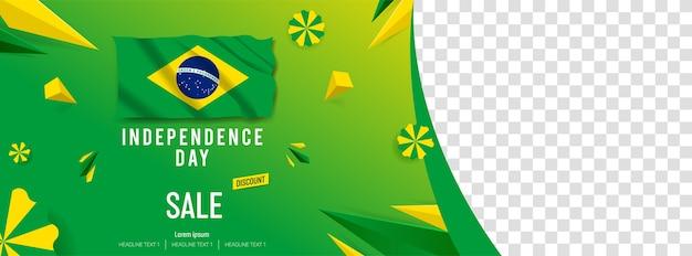 Feliz dia da independência venda oferta vector background