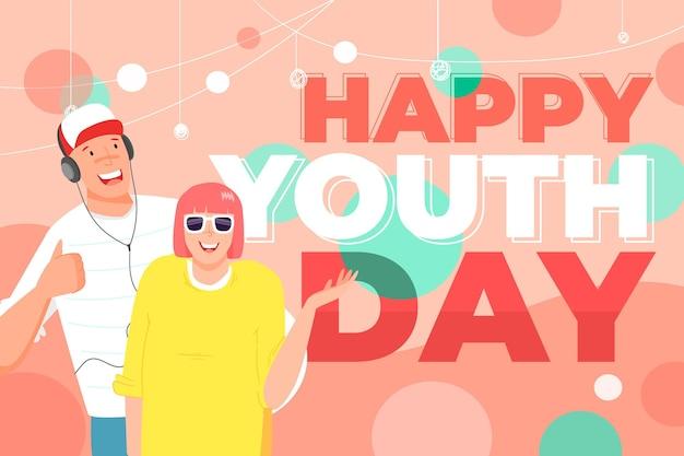 Feliz dia da juventude com jovens