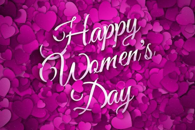 Feliz dia da mulher abstrato