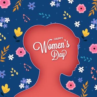 Feliz dia da mulher cartão