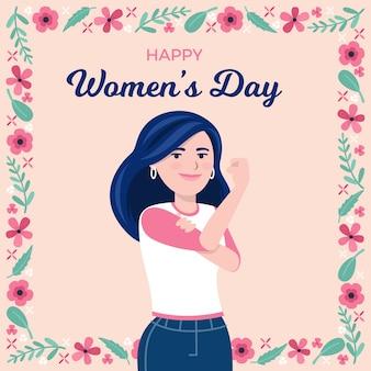 Feliz dia da mulher empoderando a igualdade