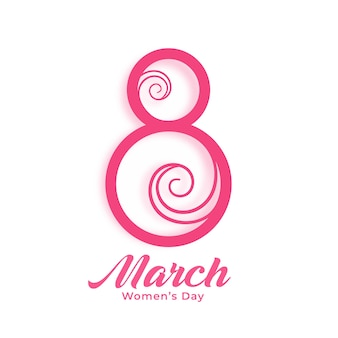 Feliz dia da mulher, fundo criativo