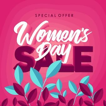 Feliz dia da mulher venda