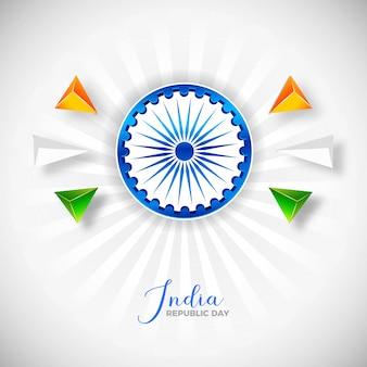 Feliz dia da república com vetor abstrato polígono colorido