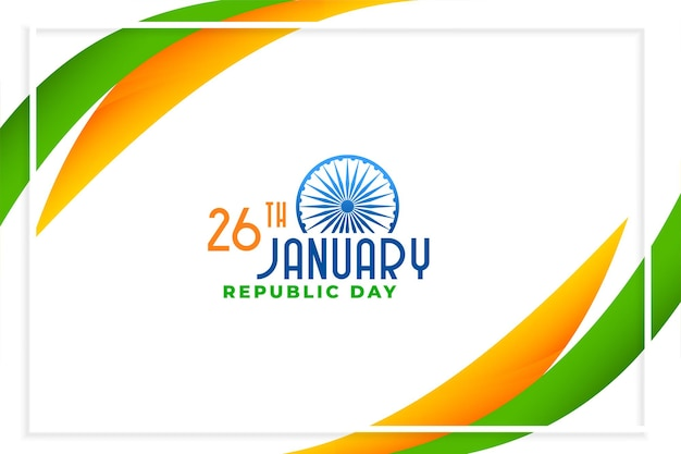 Feliz dia da república da índia design elegante