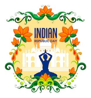 Feliz dia da república festival indiano de fundo