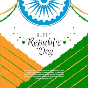 Feliz dia da republica indiana