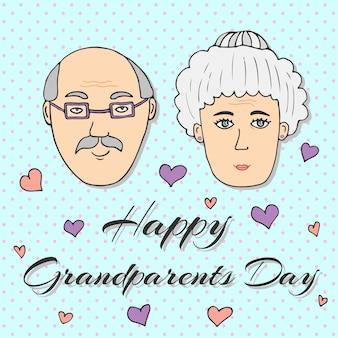 Feliz dia das avós! cartão de felicitações
