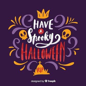 Feliz dia das bruxas assustador com caveiras