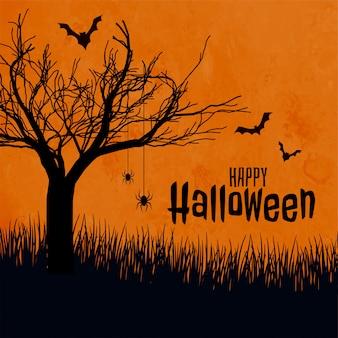 Feliz dia das bruxas assustador fundo