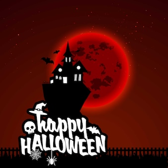 Feliz dia das bruxas assustador noite fundo