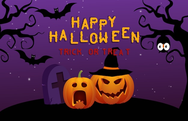 Feliz dia das bruxas assustador