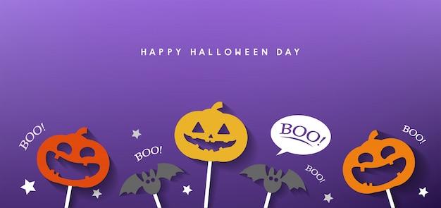 Feliz dia das bruxas banner