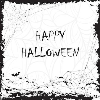 Feliz dia das bruxas caligrafia. bandeira de halloween. letras de halloween. silhueta de morcego