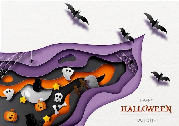 Feliz dia das bruxas cartão