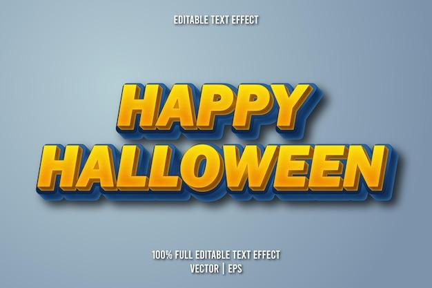 Feliz dia das bruxas com efeito de texto editável estilo retro