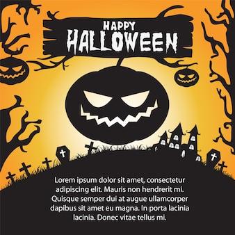 Feliz dia das bruxas com jack o lanterns