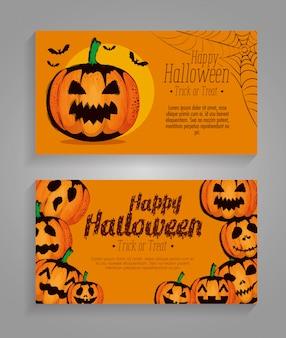 Feliz dia das bruxas conjunto conjunto de cartões