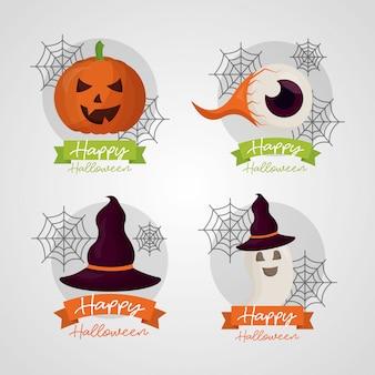 Feliz dia das bruxas conjunto
