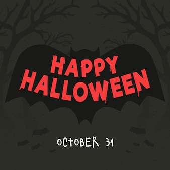 Feliz dia das bruxas - estilo de letras