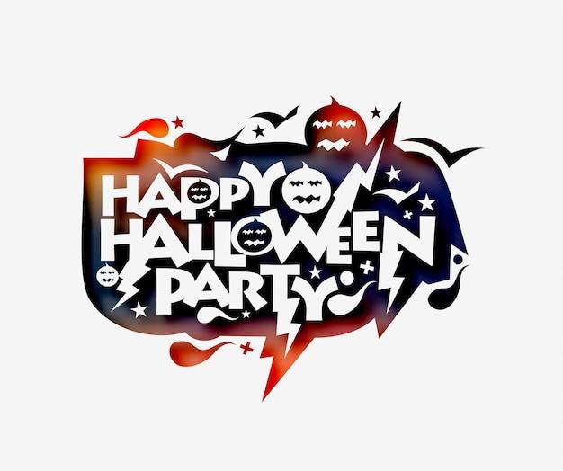 Feliz dia das bruxas festa cartão caligrafia - banner ou cartaz de halloween.