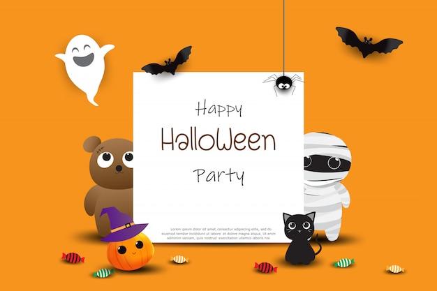 Feliz dia das bruxas festa cartão