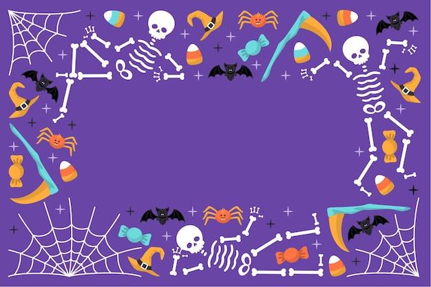 Feliz dia das bruxas fundo desenhado conceito