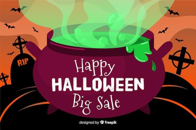 Feliz dia das bruxas grande venda plano de fundo
