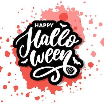 Feliz dia das bruxas letras caligrafia