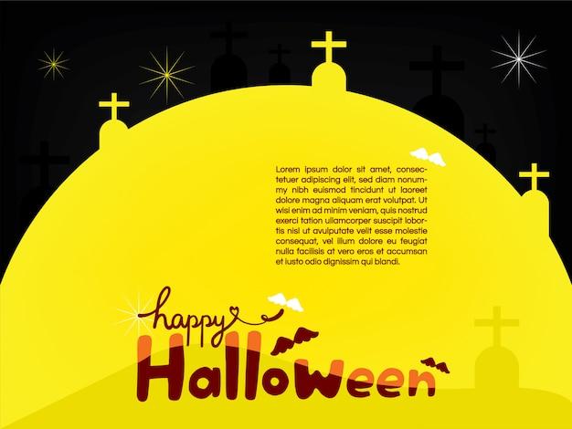 Feliz dia das bruxas no modelo grande da lua