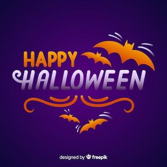 Feliz dia das bruxas rotulação fundo