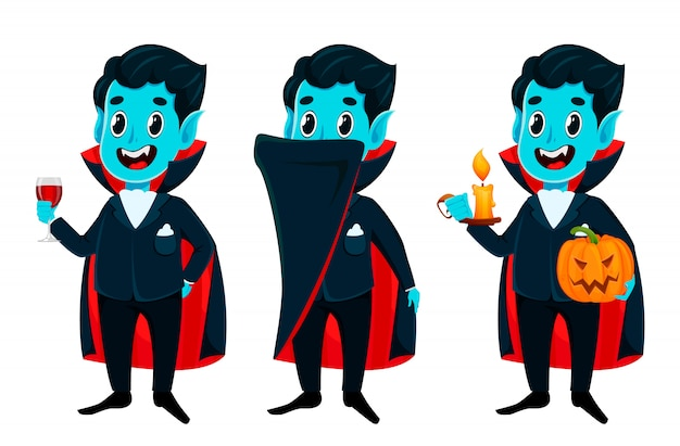 Feliz dia das bruxas. vampiro alegre engraçado