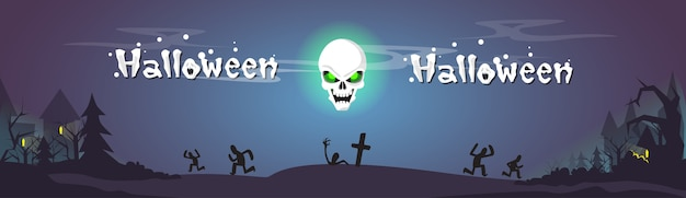 Feliz dia das bruxas zombie skull dead skeleton party