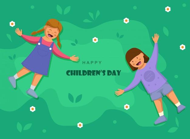Feliz dia das crianças. fundo do dia das crianças do mundo